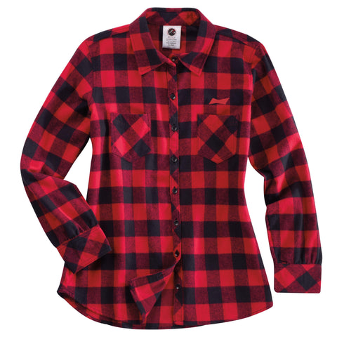 Budweiser Plaid Ladies Flannel Shirt