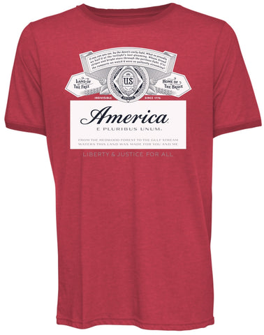 Full Color America Label  Tee