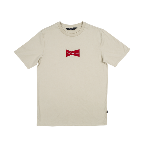 #BeenTrill Budweiser Embroidered Bowtie Tee - Cream