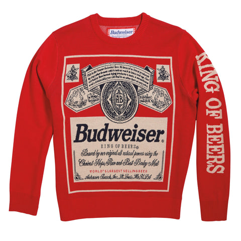 Budweiser 'Vintage Label' Sweater