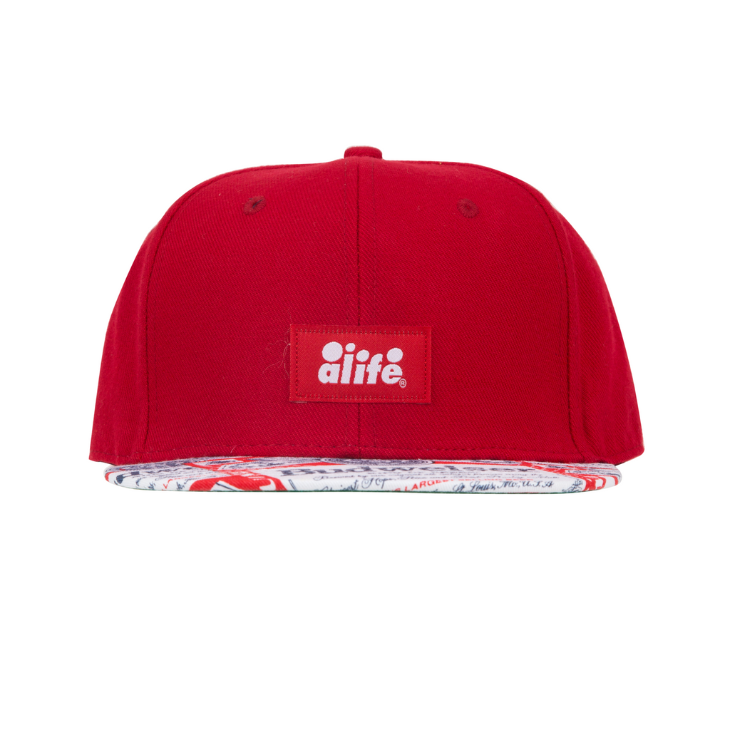 Alife X Budweiser Flat Bill Hat- Red