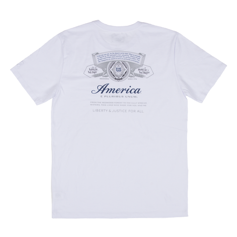 #BeenTrill Bowtie America Label Tee- White
