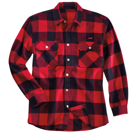 Budweiser Plaid Flannel Shirt