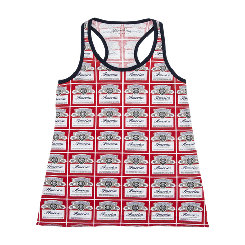 Budweiser All Over Print Crop Cut Tank