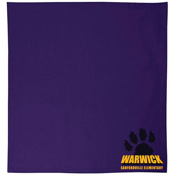 "Sanfordville School - Black and Gold ""Warwick Paw"" Stadium Blanket"