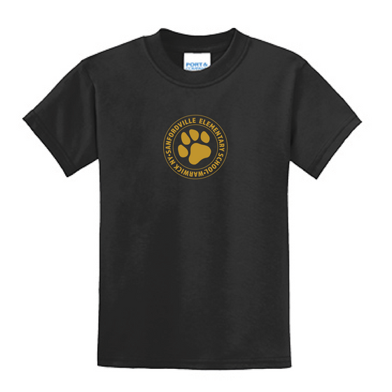 "Sanfordville School - Vegas Gold ""Circle Emblem"" Blended Tee"