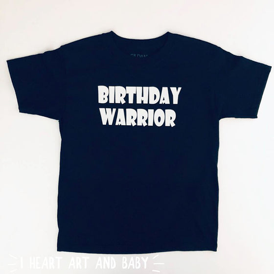 Birthday Warrior, Ninja Birthday Party Shirt