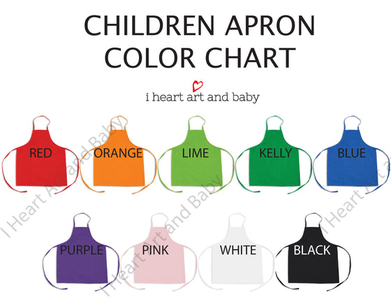 Children Apron Color Chart
