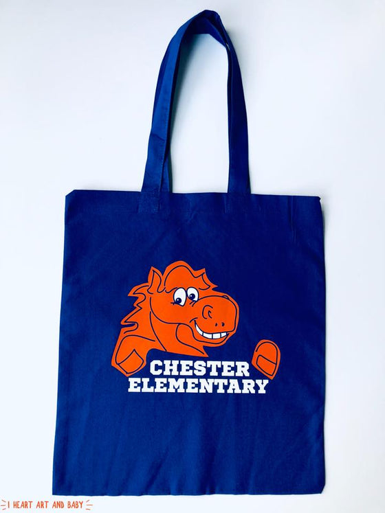 Chester Elementary School - Tote with Mascot