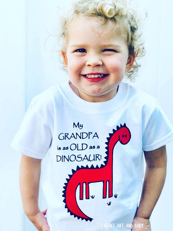 Dinosaur Toddler Shirt White