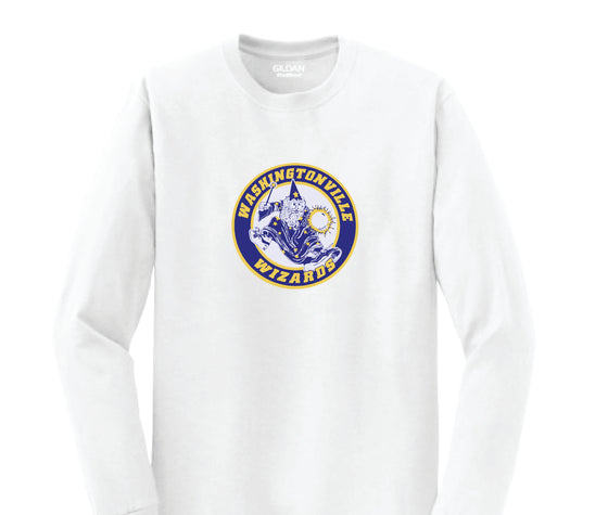 Washingtonville School - Long Sleeve Shirt - Multi-Color Wizard Logo