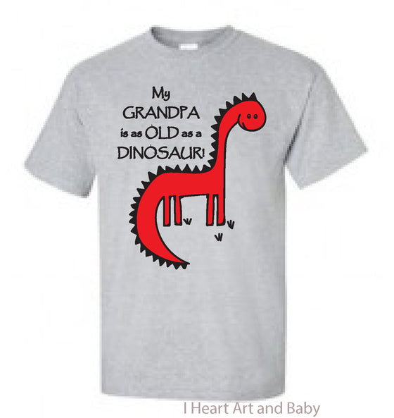 Dinosaur Toddler Shirt Grey