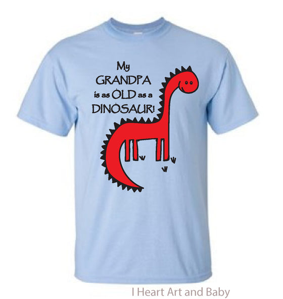 Dinosaur Toddler Shirt Light Blue