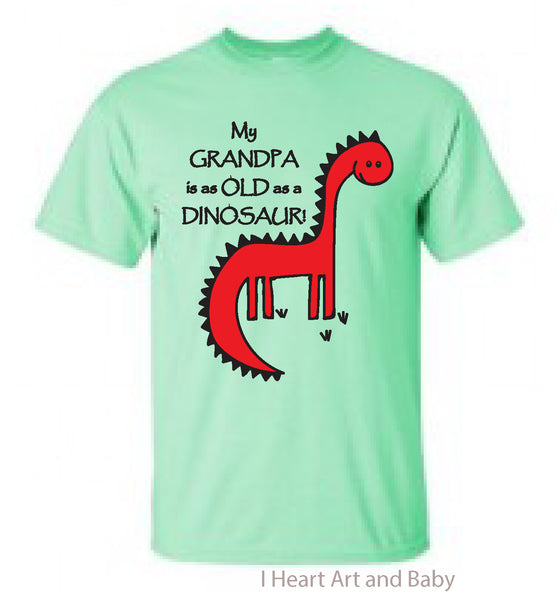 Funny Dinosaur Shirt Toddler Light Green