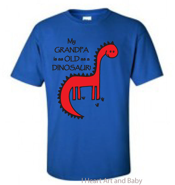 Dinosaur Toddler Shirt Royal Blue