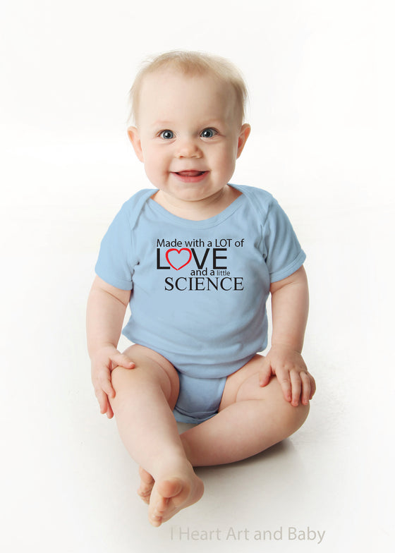 Made with Love and Science, IVF Baby, Surrogate Baby Outfit