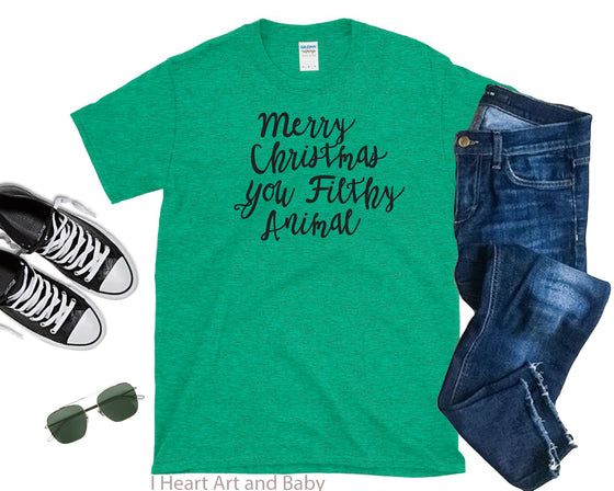 Merry Christmas Men's Shirt Green