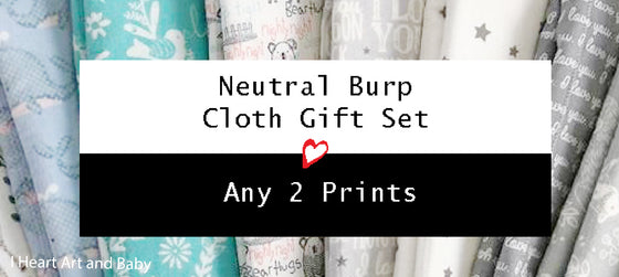 Neutral Burp Cloth Gift Set