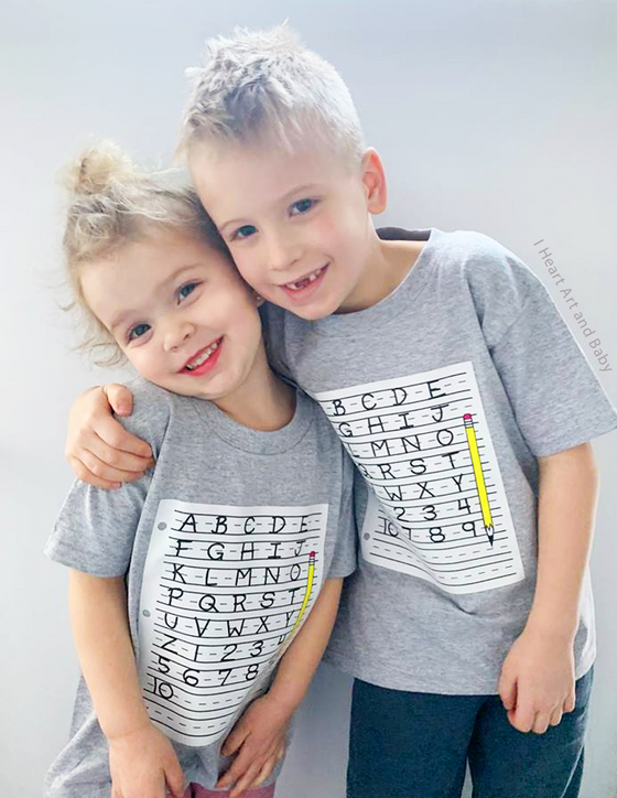 Grey First Day of School Shirts