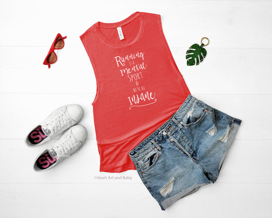 Running Muscle Tank Top Red