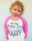All My Pants Are Sassy, Raglan Shirt for Girls