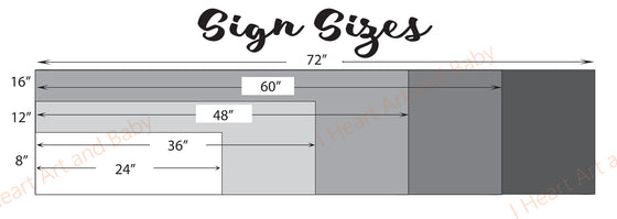 Sign Sizes