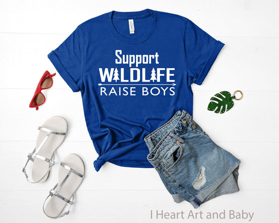 Support Wildlife Raise Boys, Women's Missy Fit Shirt