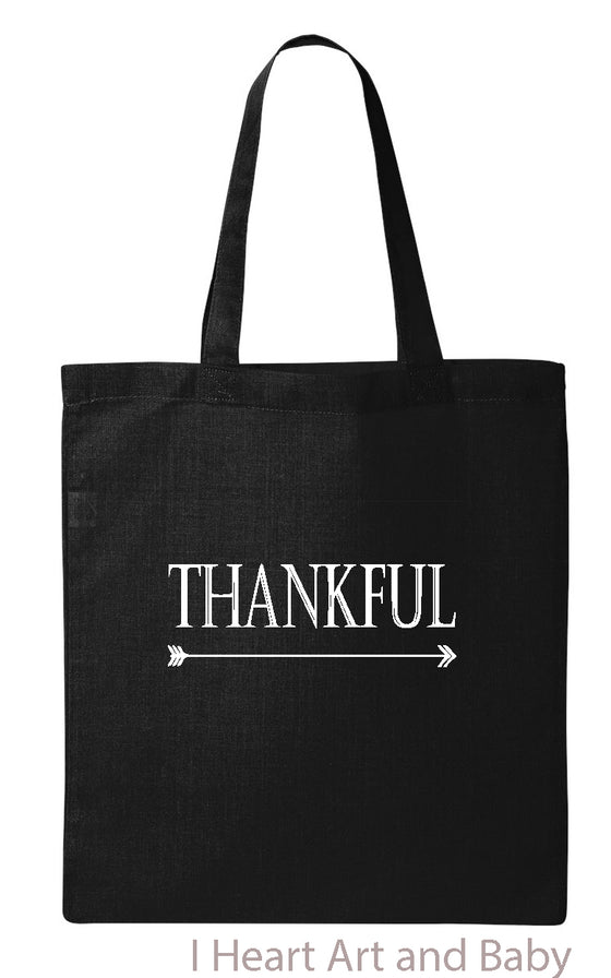 Black Thankful Tote