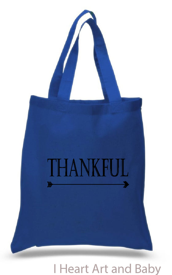 Royal Blue Thankful Tote
