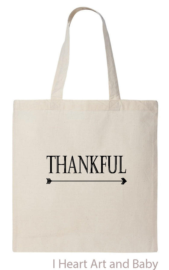 Thankful Tote Bag Natural