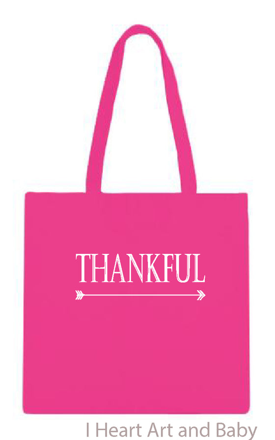 Thankful Tote Bag Pink