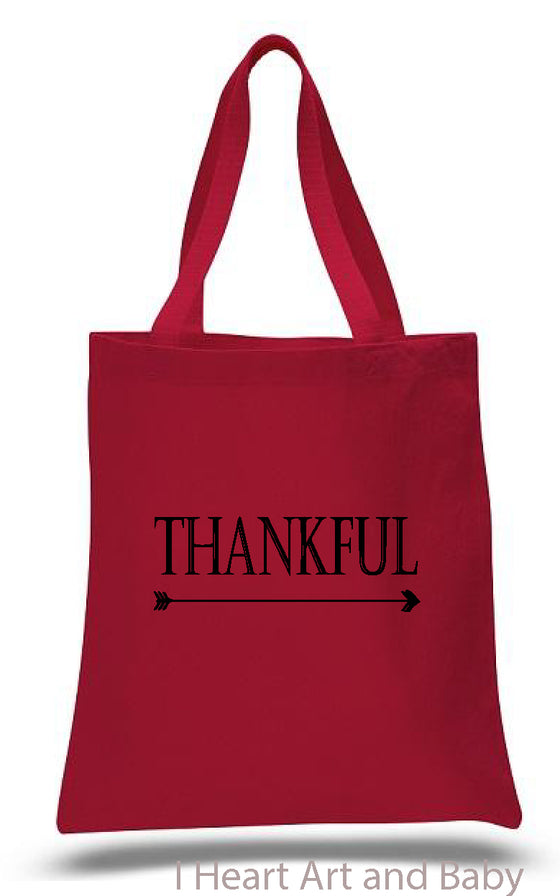 Thankful Tote Bag Red