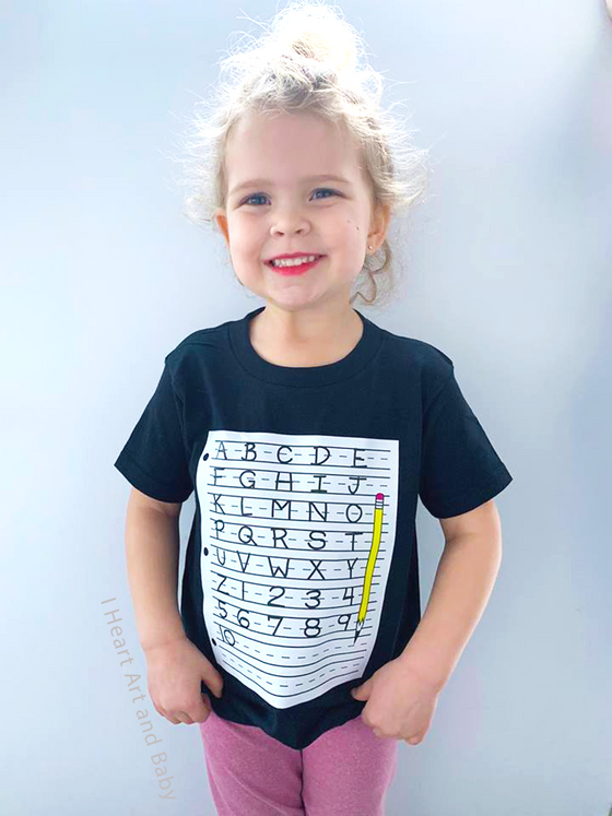 Toddler Alphabet Shirt