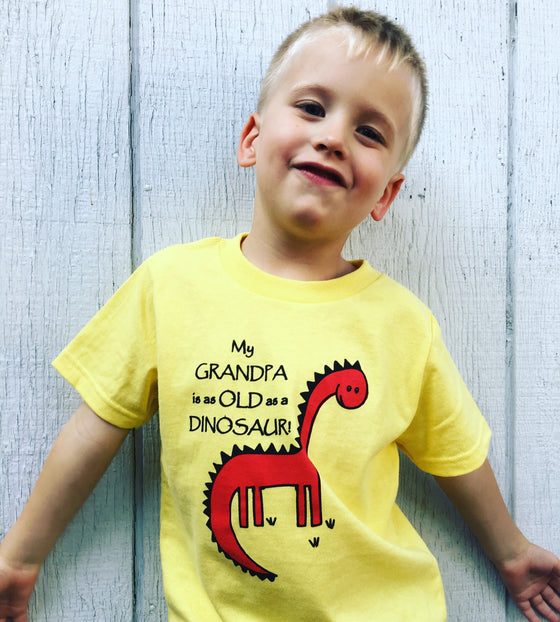 Dinosaur Toddler Shirt Yellow