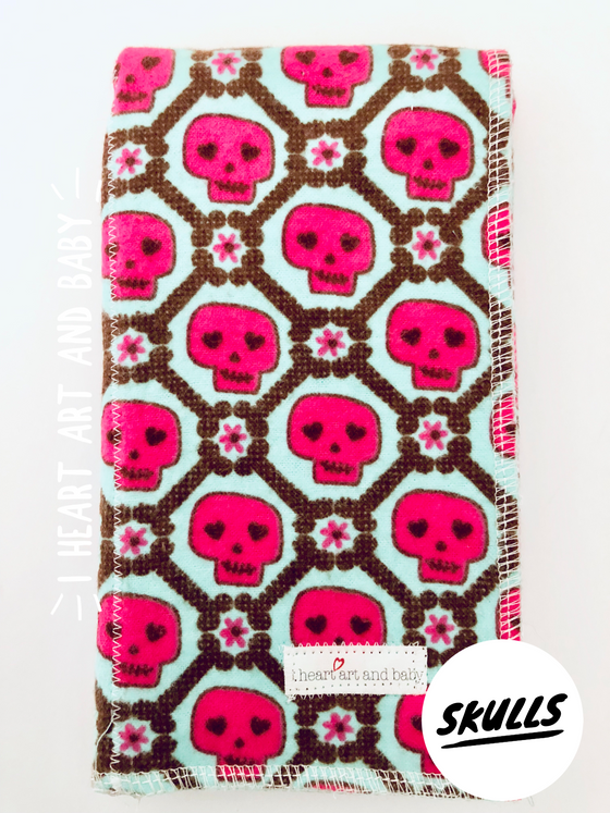 Skulls Burp Cloth