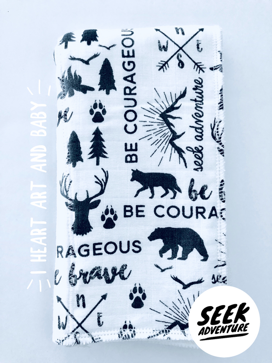 Seek Adventure Neutral Burp Cloth