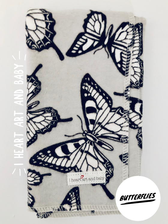 Butterflies Burp Cloth