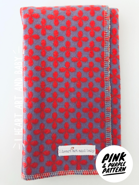 Pink and Purple Pattern Burp Cloth