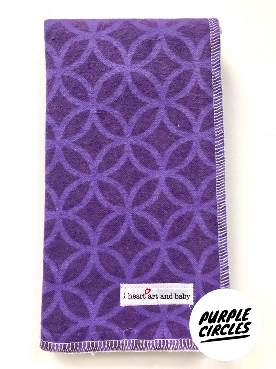 Purple Circles- Girl Burp Cloth