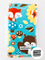 Turquoise forest friends- boy burp cloth