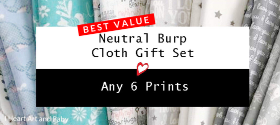 Neutral Burp Cloths