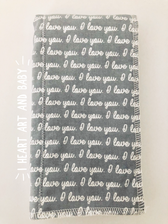 Love You To The Moon - Gender Neutral Burp Cloths, Set of 3