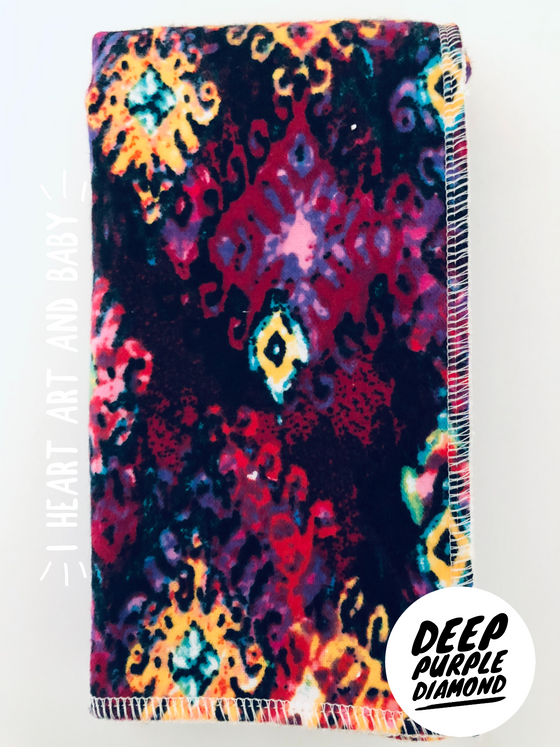 Deep Purple Diamonds Burp Cloth