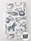 White with Black Animals Neutral Burp Cloth