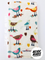 Beige Birds Burp Cloth