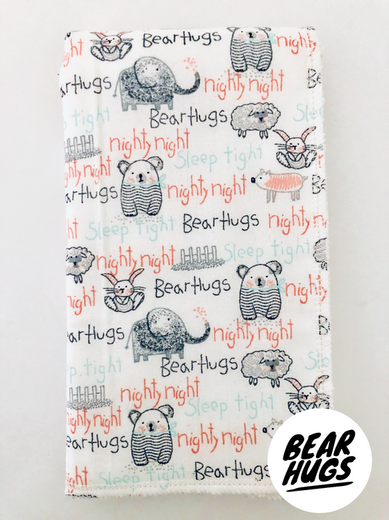 Bear Hugs Neutral Burp Cloth