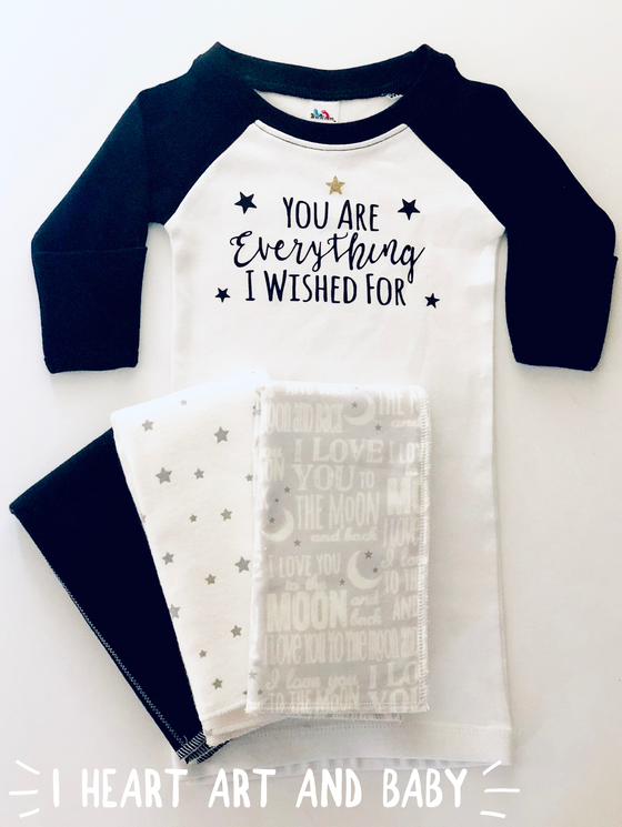 You Are Everything I Wished For, Gender Neutral Baby Outfit, Baby Gift Set