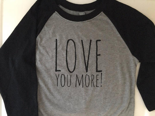 Love You More Shirts, Youth Raglan Shirts