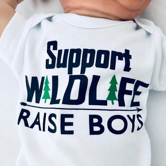 Support Wildlife Raise Boys Baby Outfit