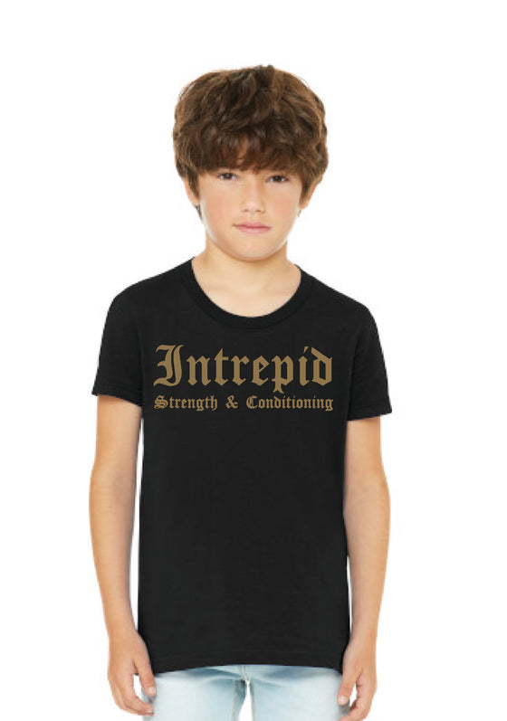 CrossFit Intrepid, Youth T-Shirt with Gold Ink